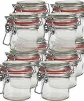 10x hobby diy mini glazen weckpotjes 100 ml bruiloft bedankjes