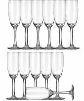 12x champagneglazen flutes transparant 170 ml claret