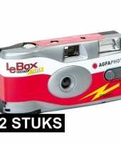 12x wegwerp cameras met flitser