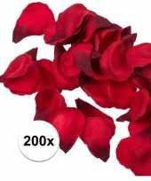 200x rode strooi rozenblaadjes 3 cm