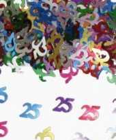 2x zakjes confetti 25 jaar verjaardag thema