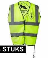 4x geel veiligheidsvestjes drunken people voor heren