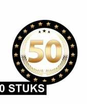 50x luxe bierviltjes 50 jaar zwart goud