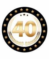 50x stuks luxe bierviltjes onderzetters 40 jaar thema