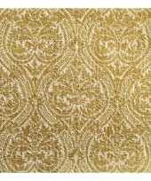 60x gouden barok servetten 33 x 33 cm