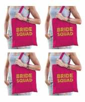 6x bride to be vrijgezellenfeest tasje roze goud goodiebag dames