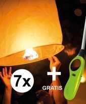 7x wensballon 50 x 100 cm incl gratis aansteker