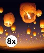 8 x witte wensballon xl 50 x 100 cm