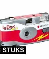 8x wegwerp cameras met flitser