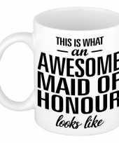 Awesome maid of honour cadeau mok beker voor getuige 300 ml