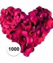 Bordeaux rode rozenblaadjes 1000 stuks