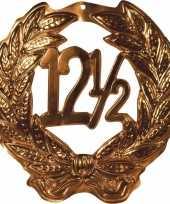 Brons kleurig huldebord 12 5 jaar