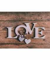 Bruine placemat love 44 cm