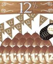 Compleet jubileum pakket versiering 12 5 jaar getrouwd thema 10173717