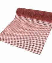 Decostof tafelloper rood 25 x 200 cm