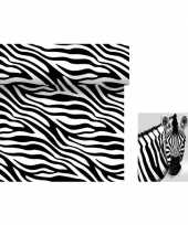 Dieren thema tafeldecoratie set zebra tafelloper servetten