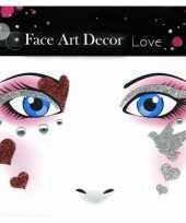 Glitter schmink sticker liefde