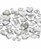 Hartjes strasstenen zilver 252 stuks