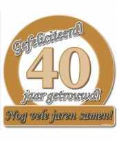 Huldebord 40 jaar getrouwd