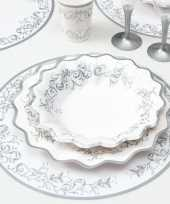 Luxe placemats zilver 33 cm