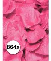 Luxe roze rozenblaadjes pakket