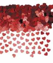 Rode hartjes confetti 3 zakjes