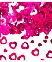 Roze confetti open hartjes