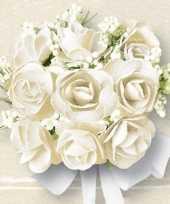 Servetten met witte rozen 40 stuks huwelijk thema