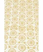 Tafelloper extra dik beige antislip 150 x 40 cm