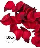 Valentijn 500x rode strooi rozenblaadjes 3 cm