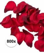 Valentijn 800x rode strooi rozenblaadjes 3 cm